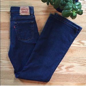 Levi's 512 Slimming High Rise Jeans Size 6 Petite